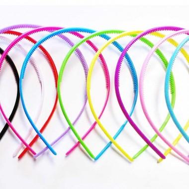 Kit de 11 diademas de plástico con colores variados para arcilla polimerica