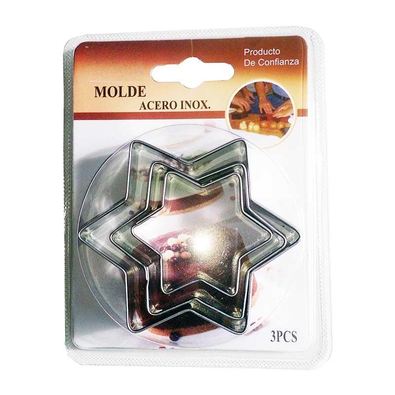 Molde Estrella para arcilla polimerica