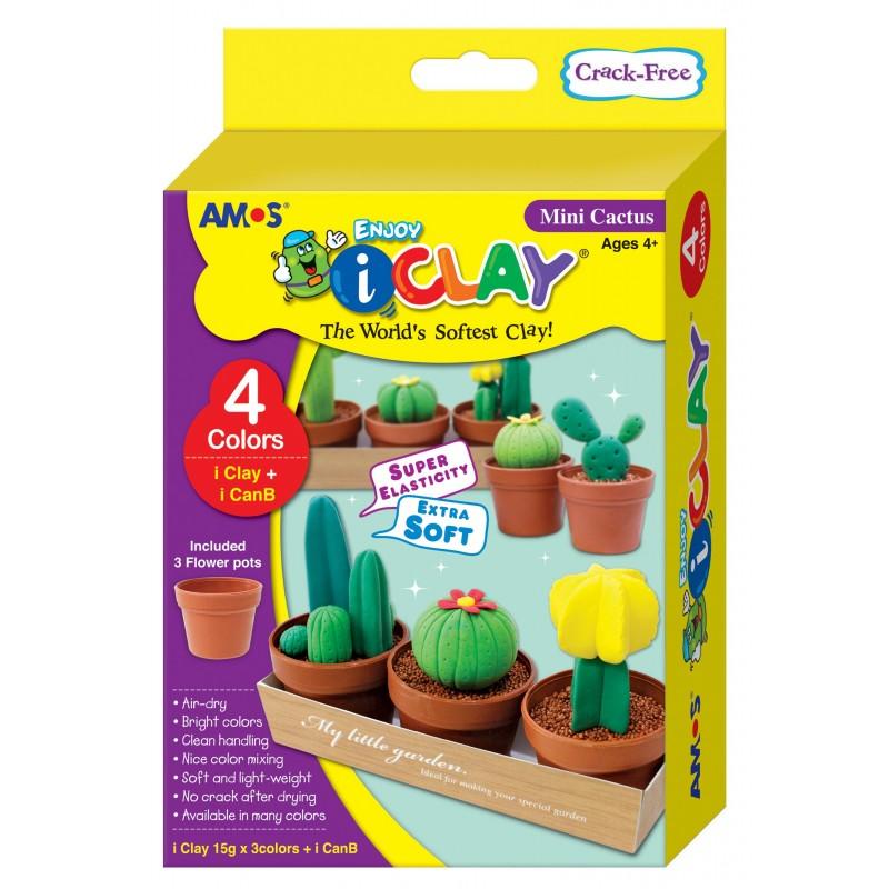 Pack para diseñar tus mini cactus de arcilla polimerica i-Clay