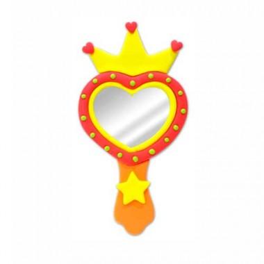 modelo espejo corazon hecho con kit para diseñar con arcilla polimerica un espejo