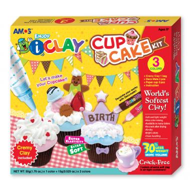 Kit para diseñar Cup cake de arcilla polimerica i-Clay