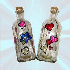 botella con pintura para cristal