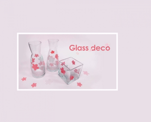 como decorar cristal con glass deco y una perforadora par scrapbook