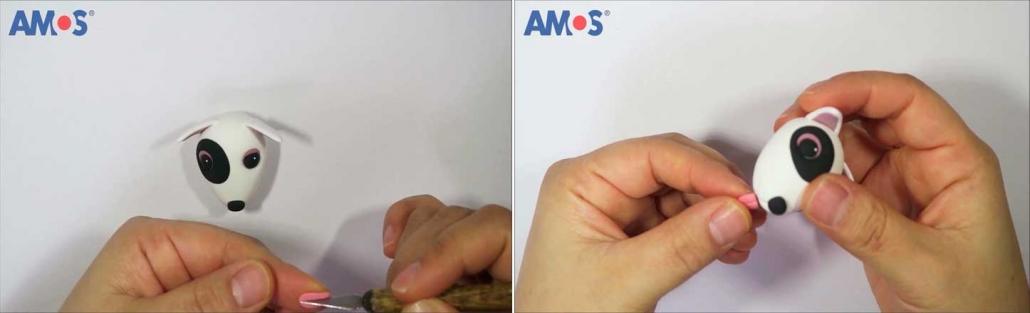 como hacer con arcilla polimerica una lengua de perro