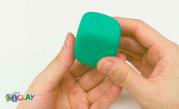 como modelar un cubo de arcilla polimérica