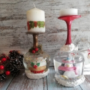 decoracion para navidad portavelas diy