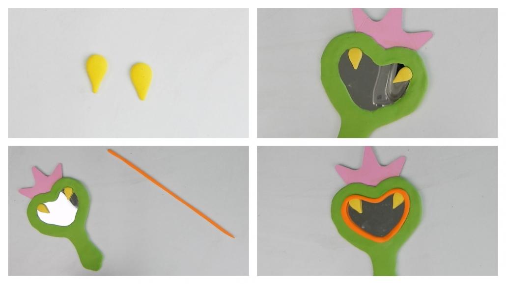 como modelar los colmillos del kit de manualidades con arcilla polimérica