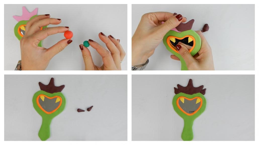 como conseguir el color berenjena del kit de manualidades con arcilla polimérica