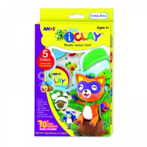 kit arcilla polimérica de secado al aire 5 colores iClay