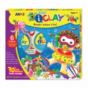 kit arcilla polimérica de secado al aire 6 colores iClay
