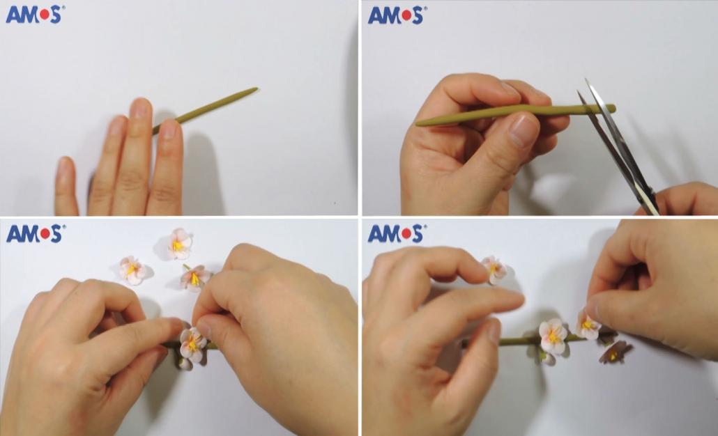 modelamos rama flor cerezo