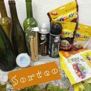 sorteo kit de materiales para decorar botellas de vidrio
