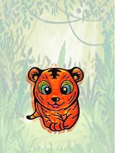 tigre taller pintura para cristal