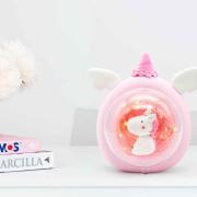 unicornio lampara decorativa mesa de arcilla polimerica
